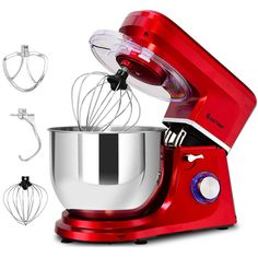 Electric Food Stand Mixer 6 Speed Tilt-Head Stainless Steel Bowl New Stainless Kitchen, Stainless Steel Bowl, Kitchen Aid Mixer, Kitchen Tools, Kitchen Appliances, Kitchen Stuff, Best Stand Mixer, Kneading Dough, Electric Foods