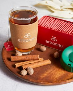 This caffeine-free, antioxidant-packed rooibos blend is smooth with the satisfying kicks of cinnamon and nutmeg. Paired with a 16 oz. cork-wrapped glass mug with a silicone lid, you'll be able to enjoy your tea (iced or hot!) on-the-go while being transported to memories of joy-filled holidays with every sip. Sold as a set of 30 tea bags in a reusable tin and a festive ready-to-gift reusable duster bag.