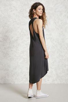 Open Twist-Back Knit Dress