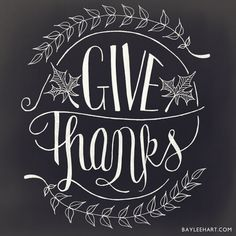 Give Thanks by WhimseyandWanderlust on Etsy, $14.80