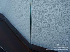 雲母唐長(KIRA KARACHO)の唐紙施工例「東京スカイツリー 江戸一目図屏風復元唐紙」