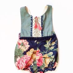 Little sweetie floral romper (sizes 9-12m to 4/5t) - Thumbnail 3