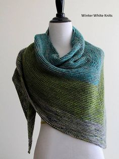 Ravelry: The Cozy DK Shawl pattern by Winter White Knits