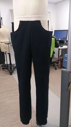 First stages of making the tailored jeans