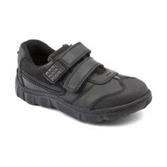c94a4447ed46 Black Leather Boys School Shoes Boys School Shoes