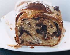 """Chocolate Babka recipe - """"Laden with chocolate, butter, and old-world charm, this babka is luscious served as dessert, with coffee, or as breakfast. While baking, the rich dough becomes incredibly tender, so it pulls apart in buttery pieces that melt in your mouth."""""""