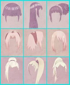 Hinata, sakura and ino - Hair evolution