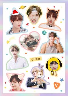 New Exo Aesthetic Wallpaper All Members Ideas Pop Stickers, Face Stickers, Tumblr Stickers, Printable Stickers, Bts Sticker, Bts Face, Bts Drawings, Bts Chibi, Aesthetic Stickers