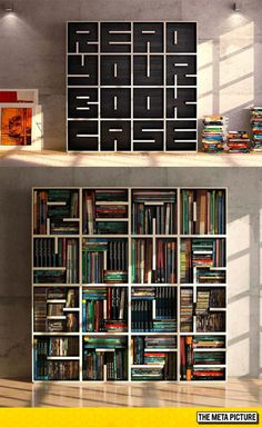 Clever Bookcase Design, Read Your Bookcase