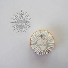 Sacred heart stamp