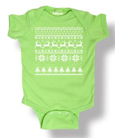 Another great find on #zulily! Key Lime Deer Bodysuit - Infant #zulilyfinds