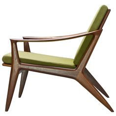 Norway, c.1950s. Rolf Rastad and Adolf Relling Rare Bambi Lounge Chair. Teak and Original Fabric.