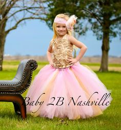 Check out Vintage Gold Flower Girl Dress  Wedding Flower Girl   Pink and Gold  Dress  Satin Rosette Dress  All Sizes on baby2bnashville