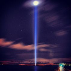 Tonight is the last night to see IMAGINE PEACE TOWER shine until it relights on Dec 21st. Go to http://IMAGINEPEACETOWER.com to watch and send your wishes.