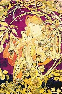 Art Nouveau illustration. Source attributes this to Alphonse Mucha