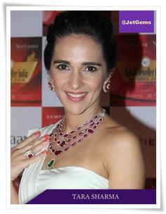 Tara Sharma looking stunning in JetGems jewellery. #JetGems #beautiful #elegant #exclusive #style #stylish #ornaments #design #designer #instapic #instalove #instalike #lovestruck