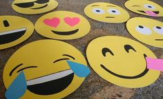 How to Make Cardboard Emoji Faces, you can use this easy recycled craft for party decorations, photo booth props, or even Halloween masks.