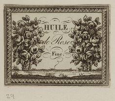 Etiquette de cosmétique, 1780-1810. Waddesdon Manor http://collection.waddesdon.org.uk/search.do?view=detail