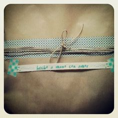 Un paquete para regalar http://littlesunflowerhandmade.blogspot.com.es/