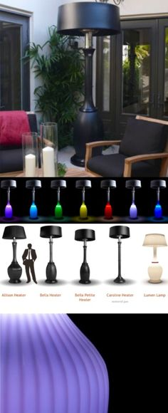 Kindle Living: A New Generation Of Illuminated Couture Patio Heaters
