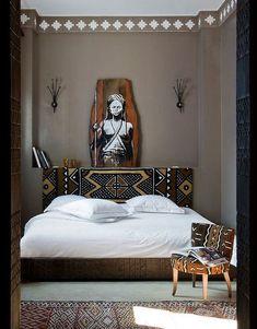 African home decor - Creative Modern Decor With Afrocentric African Style Ideas – African home decor Estilo Navajo, Bedroom Colors, Bedroom Decor, Bedroom Ideas, African Bedroom, Ethnic Bedroom, African Interior Design, Ethno Design, Classic Home Furniture