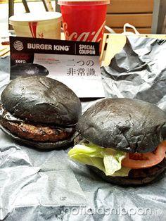 KURO BURGER... hamburguesa negra en BURGER KING