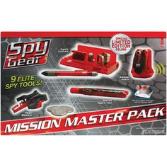 Spy Gear Mission Master Pack, Transluscent Red