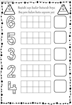Numbers Preschool, Preschool Printables, Teaching Math, Preschool Activities, Worksheets For Kids, Math Worksheets, Simple Math, Math For Kids, Childhood Education