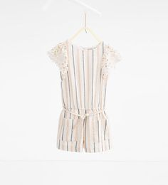 Guipure lace striped jumpsuit-View All-DRESSES AND JUMPSUITS-GIRL | 4-14 years-KIDS | ZARA United States