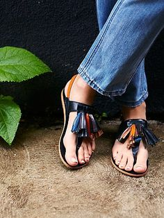 Shades of Summer Tassel Sandal