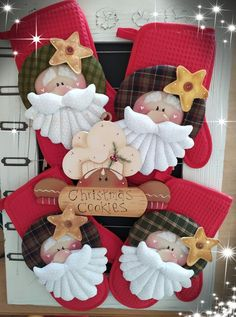 Felt Crafts, Christmas Crafts, Diy Crafts, Christmas Ornaments, Christmas Cookies, Christmas Diy, Gingerbread Man, Xmas Decorations, Christmas Stockings