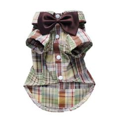 Casual Dog Plaid Shirt Gentle Dog Western Shirt Dog Clothes Dog Shirt + Dog Wedding Bow Free Shipping,Khaki,S by Petparty, http://www.amazon.com/dp/B0094HYQI2/ref=cm_sw_r_pi_dp_hIK5qb0QE429R