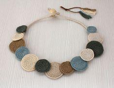 Statement Necklace Crochet Necklace Summer Fashion by stasiSpark