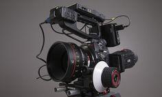 Canon C100 + 50mm Cinema Prime with Zacuto Follow Focus  C100 Z-Finder