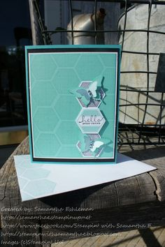 Hexagon punch & Six-Sided Sampler stamp set  http://stampinwithsamanthae.blogspot.com/