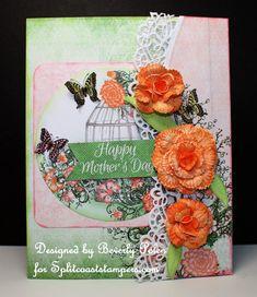Butterflies and Flowers created by guneauxdesigns - at Splitcoaststampers - #HeartfeltCreations