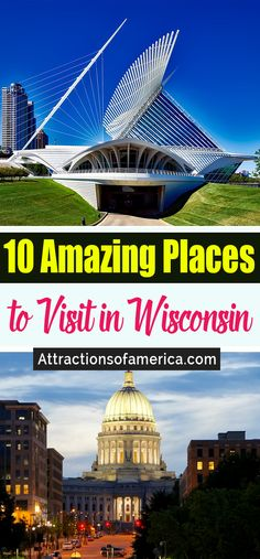Wisconsin is filled with endless beauty and many fun things to see and do for travelers. Here are the 10 best things to do in Wisconsin. Wisconsin Vacation, Wisconsin Dells, Cool Places To Visit, Places To Travel, Travel Destinations, Beautiful Vacation Spots, Wi Usa, Great Lakes