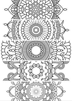 5 bookmarksprintable bookmarks instant download pdf mandala doodling page adult kids colouringadult coloring pagescoloring - Design Pictures To Color