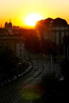 Darmstadt Schloss by Sunset