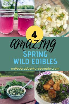 Spring wild edibles are delicious food foraged from the outdoors. Learn how nettle, cattail, dandelion and violets can be turned into healthy, tasty dishes. World Recipes, Wine Recipes, Food Spot, Best Street Food, Wild Edibles, Travel Tips, Travel Ideas, Violets, Different Recipes