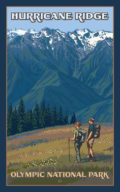 Olympic National Park Hurricane Ridge Hikers