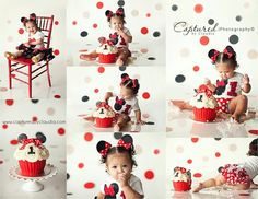Minnie mouse smash cake Cakes by Rendy Captured by Claudia Photography Smash Cake Girl, 1st Birthday Cake Smash, 1st Birthday Photos, Baby 1st Birthday, 1st Birthday Parties, Birthday Ideas, Minnie Mouse Birthday Theme, Minnie Mouse Cake, Mickey Party