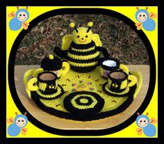 Busy Bee Tea Set Crochet Pattern. $6.99, via Etsy.