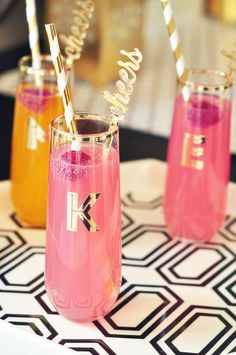 Cheers drink stirrers would be super cute with a mimosa bar for the bridal shower