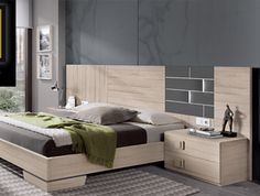 Dormitorios actuales - catálogo5 Bedroom Bed Design, Bedroom Furniture Design, Bed Furniture, Country Home Exteriors, Minimalist Bedroom, Room Set, Modern Beds, Lofts, Interior