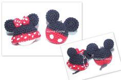 Chaveiros... Minnie e Mickey em crochê.