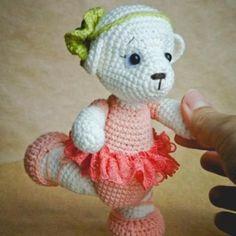 Teddy ballet dancer crochet pattern - printable PDF
