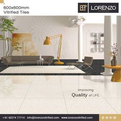 The Perfect Combination.  Linear #Ocean & Linear #Black - Millennium Tiles 600x600mm (24x24) Double Charge Porcelain #Tiles Series  Millennium Tiles vitrified #Nano polished Porcelain Tiles will reflect light into the room and add a certain luxurious touch to the finish. We can promise you that you will be glad, on the long term, with your shiny floor tiles once you have them installed.