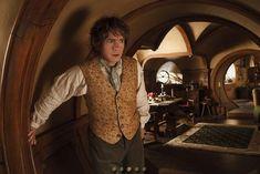 Bilbo hiding from Gandalf ~ 15 New Photos from THE HOBBIT: A UNEXPECTEDJOURNEY! - News - GeekTyrant