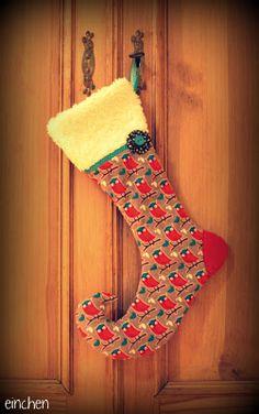 Cute christmas stocking made from Uhu Schuhu fabric